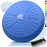 Tumaz Wobble Cushion - Wiggle Seat for Improve Sitting Posture & Attention also Stability Balance Disc for Physical Therapy, Back Pain & Core Strength for both Kids&Adults [Extra Thick, Pump Included]