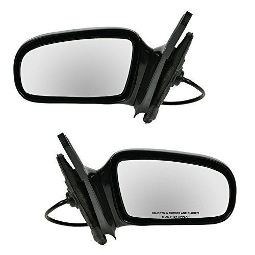 Manual Remote Side Mirrors Pair Set for 95-05 Sunfire Cavalier 2 Door Coupe