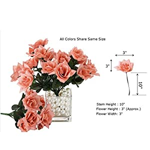 BalsaCircle 84 Lavender Silk Open Roses - 12 Bushes - Artificial Flowers Wedding Party Centerpieces Arrangements Bouquets Supplies 2