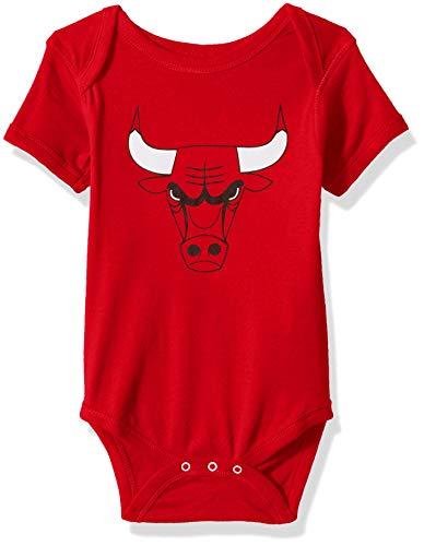 Outerstuff NBA NBA Newborn & Infant Chicago Bulls Primary Logo Short Sleeve Bodysuit, Red, 18 Months (Chicago Bulls Clothing)