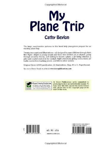 My Plane Trip (Dover Coloring Books): Cathy Beylon: 0800759439829 ...