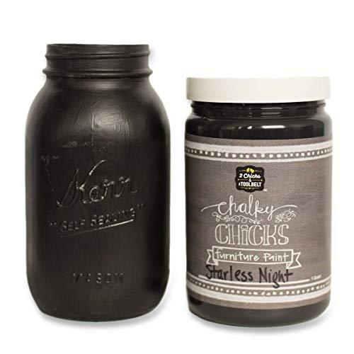 Chalk Finish Paint - Furniture & Cabinet Paint (32 oz, Starless Night)