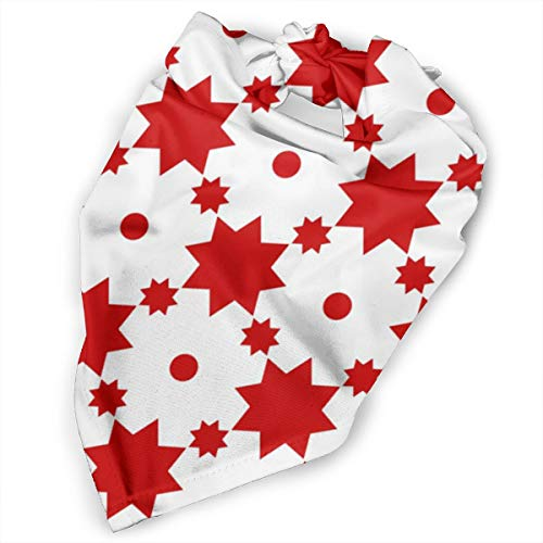 Pet Scarf Dog Bandana Bibs Triangle Head Scarfs Stars Dots Red Accessories for Cats Baby Puppy