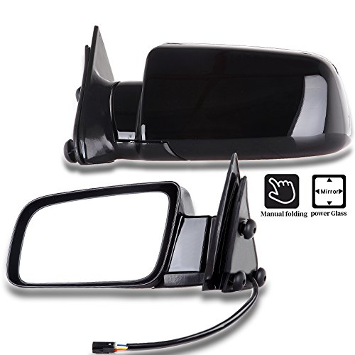 2006 Chevrolet C2500 Mirror - SCITOO Compatible fit for Towing Mirrors fit 1988-1998 Chevrolet Blazer Suburban Tahoe GMC Jimmy Yukon Pickup Truck Power Adjusted Driver Passenger Pair Set Mirrors SUV 15764757 15764758