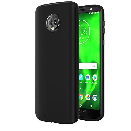 Moto G6 Case, OEAGO [Ultra Slim Thin] with Soft Feel Flexible and Easy Grip Gel Premium TPU Rubber Silicone Skin Cover Back for Motorola Moto G6 (G 6th Generation) - Black