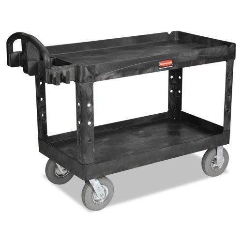 RCP454610BLA - Heavy-duty Utility Cart, 750-lb Cap., 2 Shelves, 25 1/4 X 54 X 39 1/4, Black