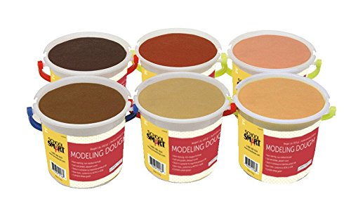 School Smart 1440578 Modeling Dough - Set of 6 - Multicultural Colors