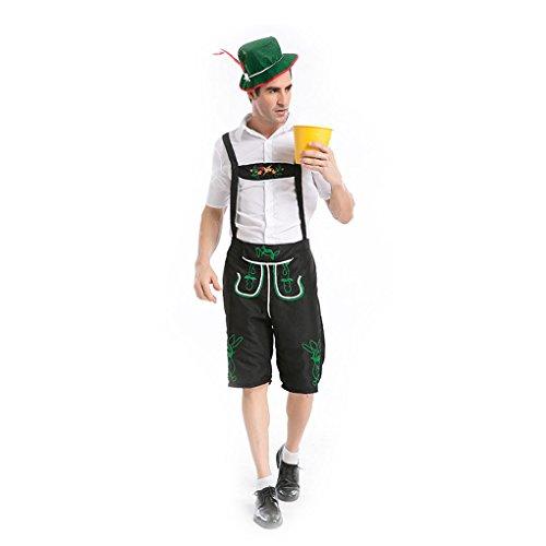 Mens German Man Bavarian Fancy Dress Costume laderhosen Beer Festival S-XXL