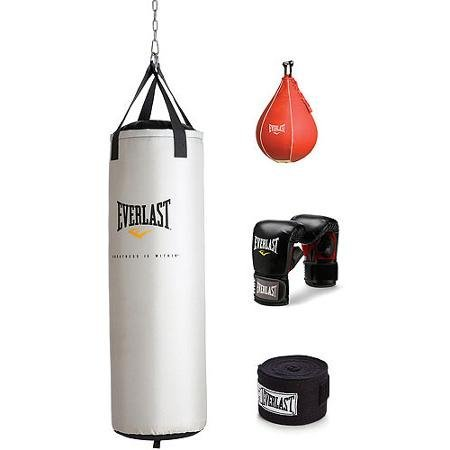Everlast 70 lb Platinum Heavy Bag Kit with Wrist Wraps and Heavy Bag Gloves by Everlast