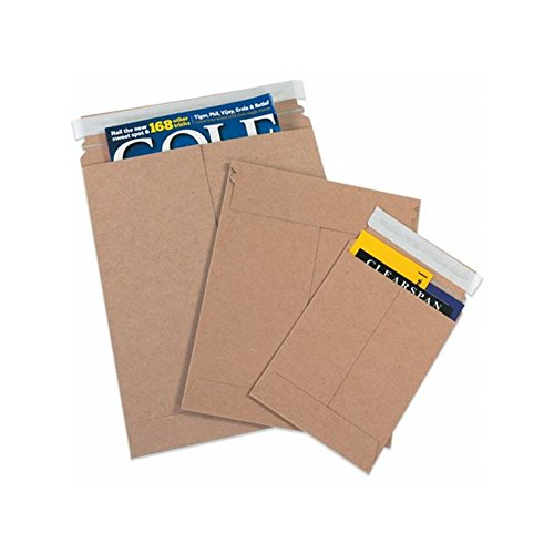 Box Packaging Self-Seal Flat Mailer, 13'' x 18'' - Case of 100 by Box Packaging