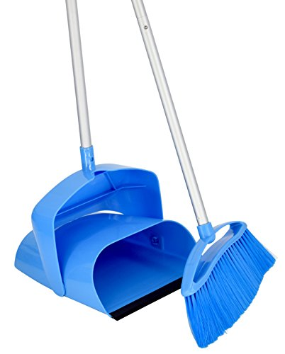 Price comparison product image SmartlyMaid Broom & Upright Dustpan, Compact Lobby Style Converts to Full Size