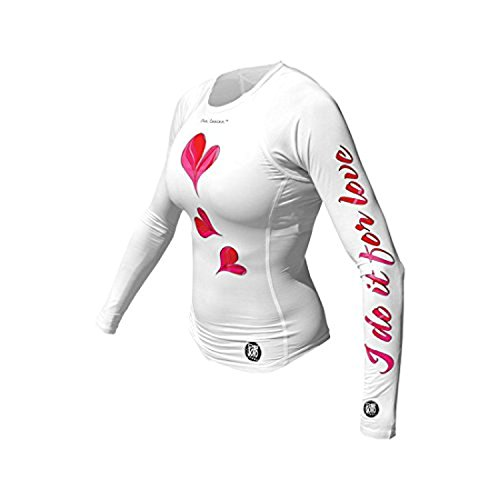 DeSoto Women's Femme Skin Cooler Long Sleeve Tri Top (White/Coral Flow, - Tri Long Suit Sleeve