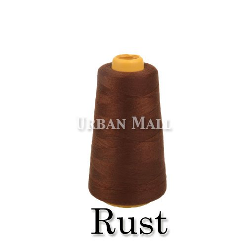 6000 Yards Rust Sewing Thread All Purpose 100% Spun Polyester Spools Overlock Cone (Upholstery , Canvas , Drapery, Beading, Quilting) (Rust)