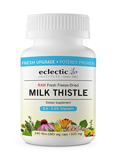Eclectic Milk Thistle 600 Mg Fduv, Blue, 240 Count