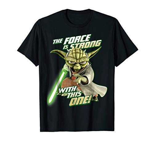 Star Wars Clone Wars Yoda Force Is Strong Graphic T-Shirt
