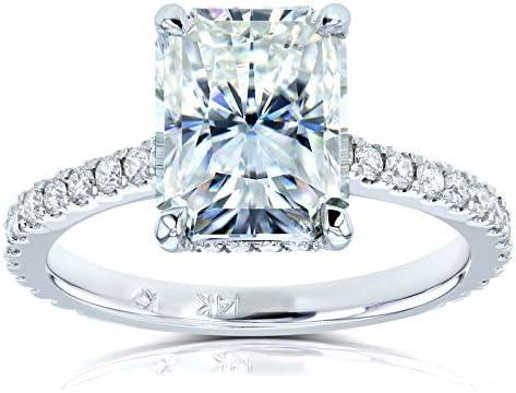 Kobelli Radiant-cut Moissanite Engagement Ring 3 1/10 CTW 14k White Gold (FG/VS, GH/I)