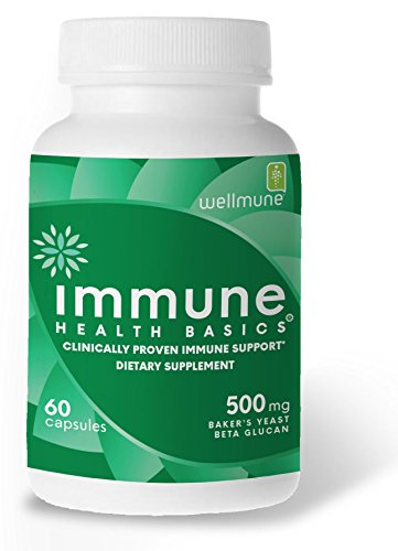 - Immune Health Basics - Wellmune Beta glucan 500 mg Immune Support, 60 Veg Capsules