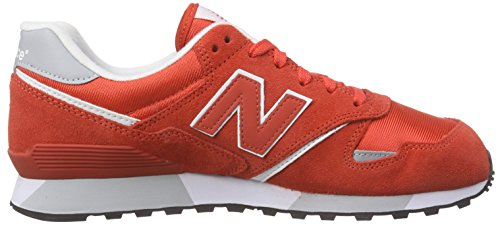 New Balance Men's U446 Low-Top Sneakers, Pink Red (Red)