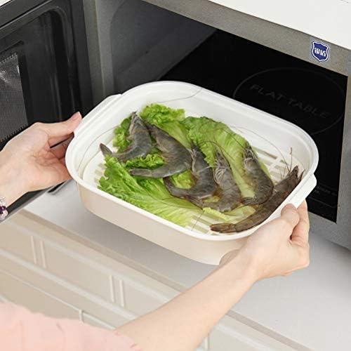 41gV4%2BaDAnL. AC UPKOCH Microwave Food Steamer Cooking Steamer Basket for Fish Vegetable Buns(Random color)    Description