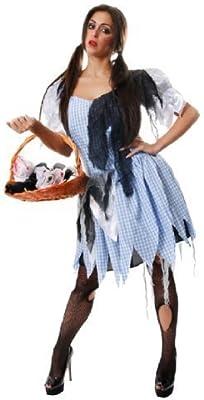 Mujer Campesina Dorothy Criada Zombie Disfraz Halloween Disfraz ...
