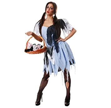 e0d353c97bf72 LADIES COUNTRY GIRL DOROTHY MAID ZOMBIE HALLOWEEN FANCY DRESS COSTUME OUTFIT   Amazon.co.uk  Toys   Games