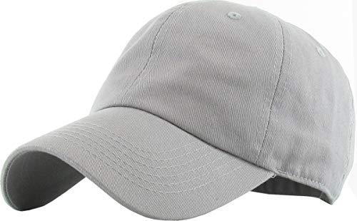 H-218-51 Low Profile Polo Style Baseball Cap: Heather Grey