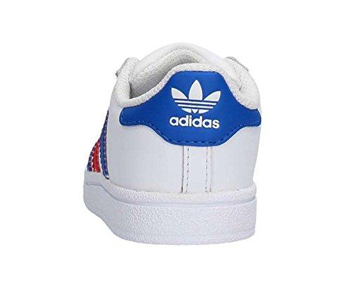 adidas Superstar Foundation Unisex-Kinder Sneakers Footwear White/Blue/Red