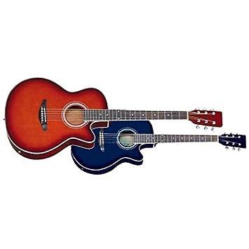 Rochester CFG3-BLS - Cfg3 bls guitarra electroacustica de 6 cuerdas azul: Amazon.es: Instrumentos musicales