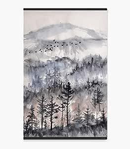 عتيق لوحة جدارية مطبوعة على القماش , مقاس 60X90 , المناظر الطبيعية