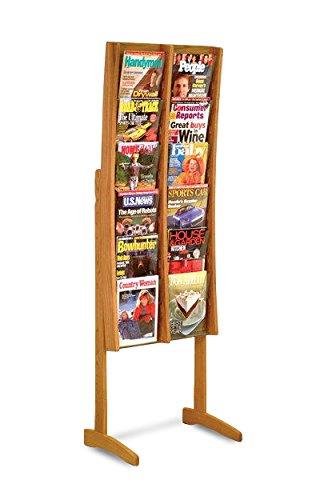 Wooden Mallet AC12-FSMO Stance 12 Pocket Curved Floor Display, 2-Feet by 6-Feet, Medium (12 Pocket Floor Display)