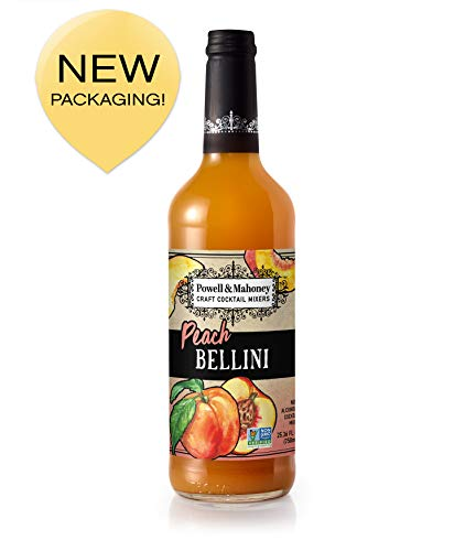 Powell & Mahoney Craft Cocktail Mixers Peach Bellini, 25.36 FL OZ, Pack of 1 (Mimosa Mix)