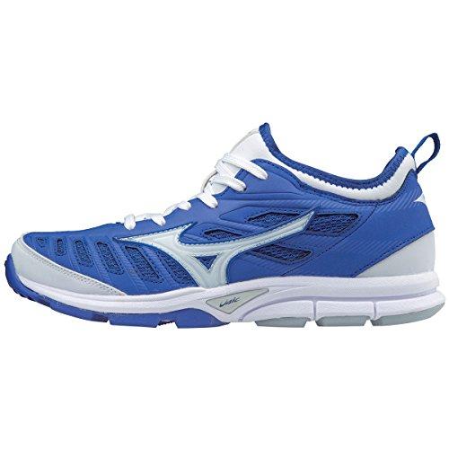 Mizuno (MIZD9) Women's Players Trainer 2 Fastpitch Turf Softball Shoe, Royal/White, 12 B (Royal Baseball Trainers)