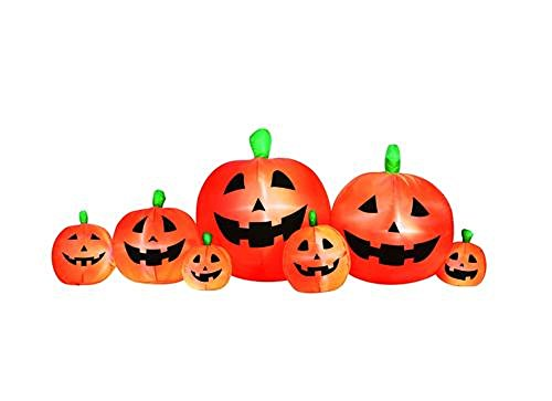 Inflatable 7 Pumpkin Patch 8' foot Halloween Yard Decor Lights Up BlowUp -