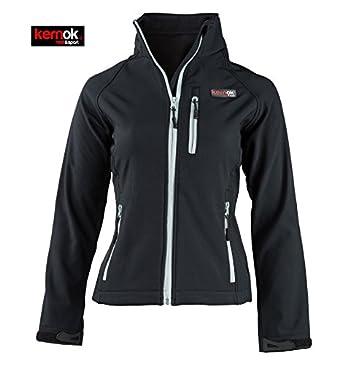 Damen Beheizbare Soft Shell Schwarz Jacke Für Nk8n0wXZOP
