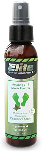 Elite Sportz Shoe Deodorizer and Foot Spray - No More Embarrassing Smelly Shoes or Stinky Feet with Our Very Popular Peppermint Foot Spray and Shoe Freshener - 4 OZ
