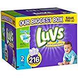 luvs diapers, size 2, 216 count
