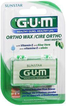 G-U-M Ortho Wax, Mint - each, Pack of 3 SUNSTAR AMERICAS INC
