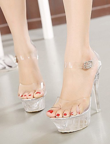 ShangYi Silicone Stiletto Party Toe amp; Dress Sandals Heel Evening White Shoes Women's Peep RSRq6