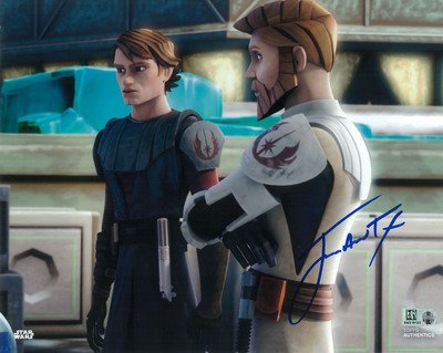 Star Wars Authentics James Arnold Taylor as Obi-Wan Kenobi 8x10 Autographed in Blue Ink Photo from 'Star Wars: The Clone Wars' - The Official Partner of Star Wars (Taylor Clone)