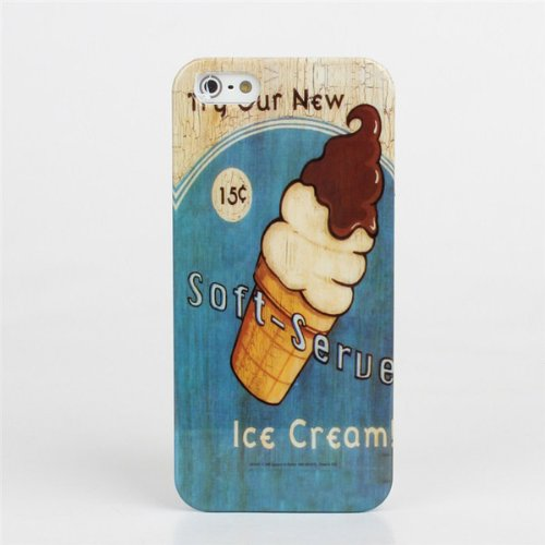 Ice Cream Motif PC Hard Cover Case For iPhone 5 5S