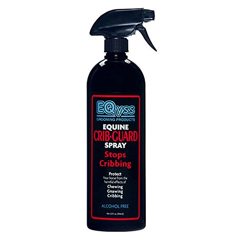Eqyss Crib Guard Equine Spray 32oz - Guaranteed to Stop Your Horse from Chewing and Cribbing - Bitter Yuck No Chew Spray