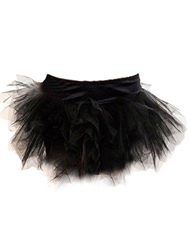 Yummy Bee Tutu Rock Burleskes Kostüm Damen Burlesque Größe 34 - 56 (Schwarz, 36)