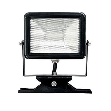 Electraline 63504 Proiettore Faretto Slim da Esterno, IP65 a LED con Staffa, 30W, Bianco
