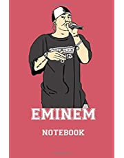 Eminem Notebook :: Journal, 120 Pages (6 x 9 Inches) Blank Ruled Writing Journal , Perfect Diary Notebook Gifts for Father Day Mother Day Family Ideas