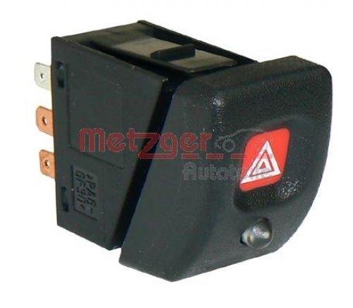 Metzger warnblinkschalter para los vehículos con diebstahlwarnanlage 0916082