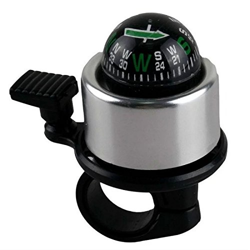 AdraXx Compass Bell Black and Silver for Bikes Cycle Bells