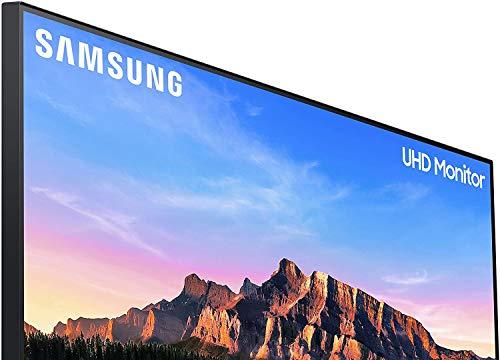 "Samsung U28R552 - Monitor de 28"" sin marcos 4K (3840x2160, 4 ms, 60 Hz, HDR10, FreeSync, LED, IPS, 16:9, 1000:1, 300 cd/m², 178°, HDMI 2.0, Base en V) Gris Oscuro"