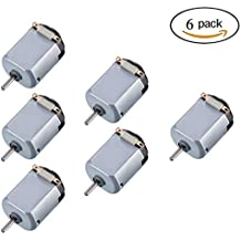 Topoox 6 Pack DC 1.5-6V 15000-16500RPM Mini Electric Motor for DIY Toys, Science Experiments