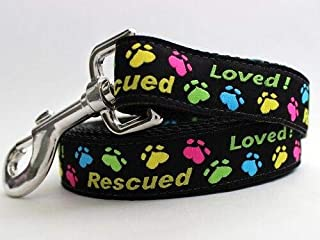 product image for PetDesignz Rescue Me Custom Engraved Dog Collar by Diva Dog (Optional Matching Leash Available)
