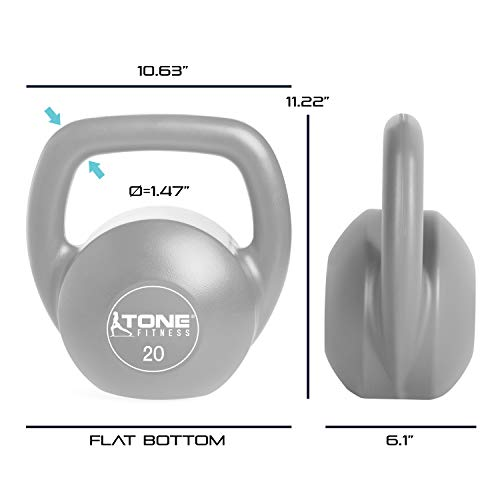 Tone Fitness SDKC2-TN020 Kettlebell, 20 lb by Tone Fitness (Image #4)